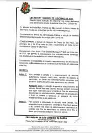 Decreto emitido pelo Prefeito no último dia 11 de maio