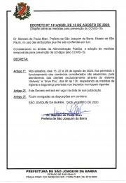 Decreto que autoriza a abertura do comércio não essencial aos sábados no mês de agoto no sistema Drive Trhu e Delivery