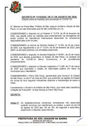 Decreto mudança da faixa e reabertura parcial do comércio