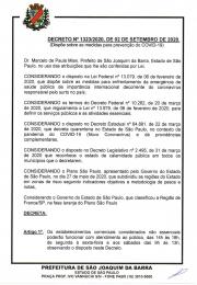 Segue decreto nº 1323/2020 referente a abertura do comércio aos sábados e demais procedimentos