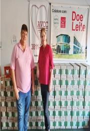 Associação Comercial e Empresarial de São Joaquim doa 1.080 litros de leite a AVCC