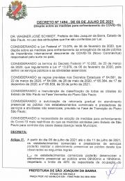 Decreto nº 1494 de 05 de julho de 2021