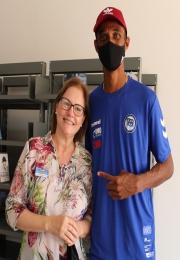 Presidente da Associação Comercial parabeniza medalhista olímpico joaquinense