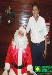 Papai Noel chegou trazendo alegria aos joaquinenses